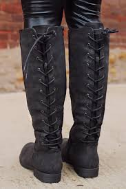 womens boots zip up back lace up back boot uoionline com s clothing