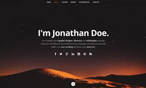html resume example 25 free html resume templates for your