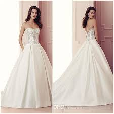 Wedding Dress Box Discount Strapless Corset Wedding Dresses Full Beaded Bodice