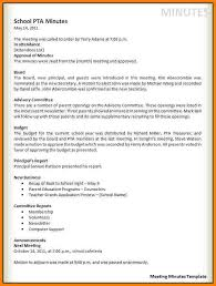 9 meeting minute template letter format for