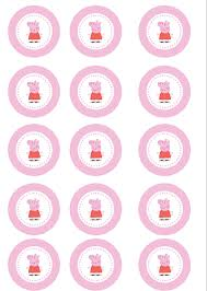 peppa pig cupcake toppers printable cupcake coloring pages