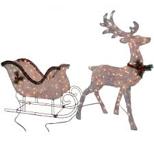 lighted deer lawn ornaments lights decoration