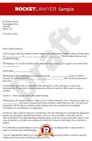 performance hearing letter invitation to poor performance hearing