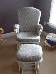 Rocking Chair Covers For Nursery Luxe Basics Standard Glider Chair Cover In Minky Dot 030 Minky