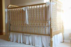Bed Skirts For Cribs The Tutorial For This Crib Skirt It Is Adjustable So It Will