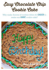 easy chocolate chip cookie cake recipe easy chocolate chip