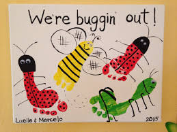 buggin out footprint art by tala campbell kids handprint
