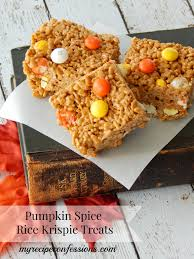 Rice Crispy Treat Pumpkins Pumpkin Spice Caramel Corn Pops Recipe