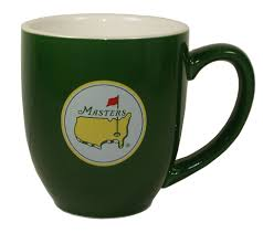 masters green ceramic coffee mug
