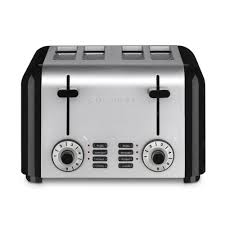 Delonghi Icona 4 Slice Toaster Black Cuisinart 4 Slice Silver And Black Toaster Cpt 340 The Home Depot
