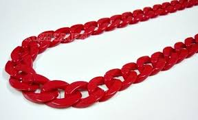 red chain link necklace images Red chunky chains plastic link necklace craft diy 30 inch a38 on jpg