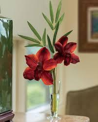 cymbidium silk orchid u0026 bamboo arrangement at petals