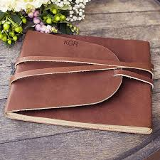 personalized genuine leather journal guest book