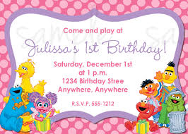 sesame street invitations 1st birthday free printable invitation