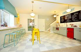 decorating great color scheme for small ice cream shop design with