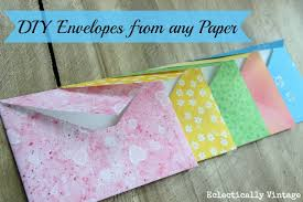 make diy envelopes from any paper