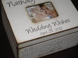 wedding wishes box personalized wedding wishes box with photo display wedding