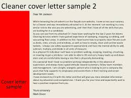 best ideas of free cover letter for cleaning job about format