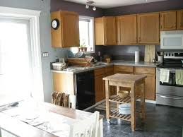 Kitchen Colors For Oak Cabinets by Gray Kitchen Walls With Oak Cabinets Outofhome