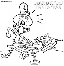 squidward coloring pages coloring pages to download and print