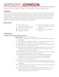 Machine Operator Resume Examples by 100 Cop Resume Leading Professional Service Center