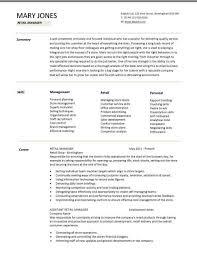 Customer Service Sales Resume Examples Resume Templates Retail Retail Cv Template Sales Environment Sales