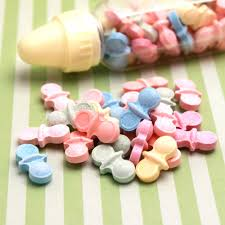 pacifier shaped candy pacifier shaped candy mints 12 oz baby shower favors baby