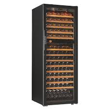 73 bottle evolution series dual zone wine refrigerator glass door
