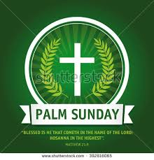 palm crosses for palm sunday template logo on palm sunday cross stock vector 392816065