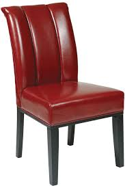 Parsons Dining Chairs Met89rd Office Star Pleated Back Parsons Dining Chair In Red Eco