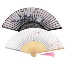 silk fan 2x vintage fan folding held bamboo silk fan for kids