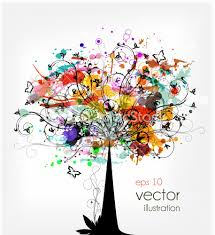 grunge colorful tree vector illustration stock image frances j
