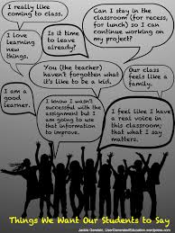 what to say to to be things we want our learners to say user generated education