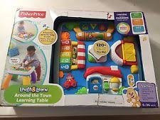 fisher price around the town learning table activity table ebay