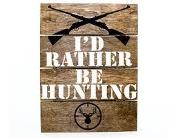 Hunting Home Decor Deer Pallet Sign Etsy