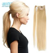 ponytail with extensions real hair blond ponytail human hair ponytail wrap around clip
