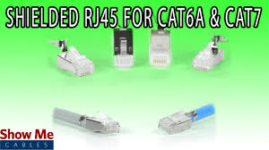 shielded rj45 connector for cat6a u0026 cat7 diy installation for