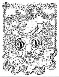 coloring pages of scary clowns 114 best halloween colors images on pinterest coloring books