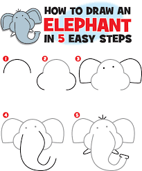 how to draw an elephant kid scoop