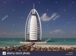 Al Burj by Burj Al Arab Five Star Hotel Skyscraper Highrise Towerblock Stock