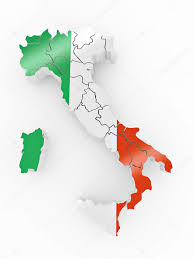 Italy Flag Images Map Of Italy In Italian Flag Colors U2014 Stock Photo Maxxyustas