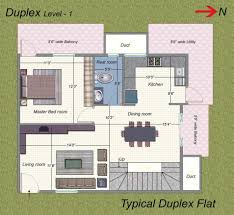 duplex house plans with garage india