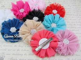 flower hair clip vintage chiffon shabby look flower hair clip accessories shoe