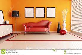 Wohnzimmer Orange Orange Und Rotes Wohnzimmer Stock Abbildung Bild 18894516