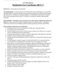 Lifeguard Resume Job Description by Residential Care Coordinator Job Description Http