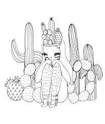 saguaro cactus coloring page virtren com