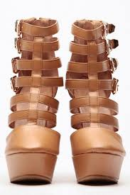 camel buckled up platform booties cicihot wedges shoes store