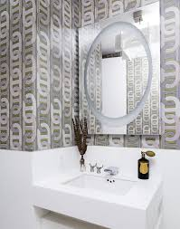 Decorating With Wallpaper by Modern Bathroom Wallpaper Bathroom Decor