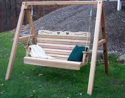 Porch Swings For Sale Lowes by Furniture Charming Wooden Porch Swings With White String For
