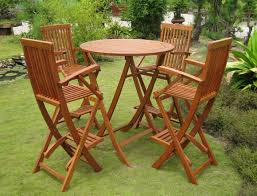 Bar Height Patio Table And Chairs by Bar Height Folding Table For Your Own Bar